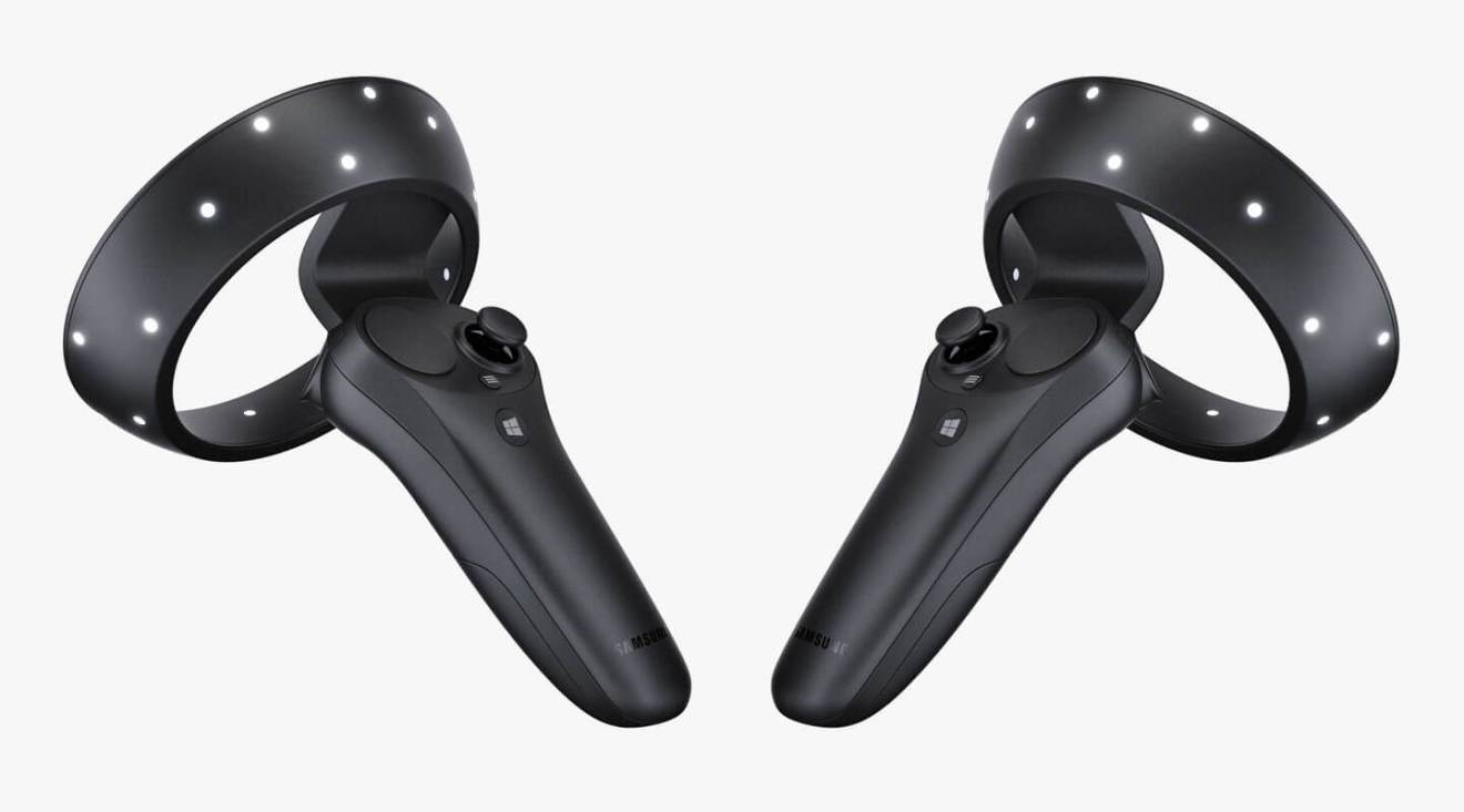 samsung hmd odyssey controllers 3D D - Samsung HMD Odyssey é novo óculos de realidade virtual compatível com Windows Mixed Reality
