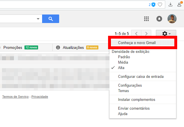 Tutorial: Como ativar o novo design do Gmail 7