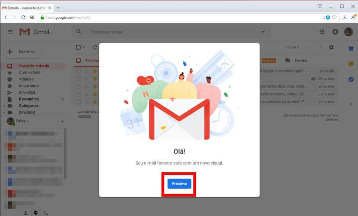 Tutorial: Como ativar o novo design do Gmail 8