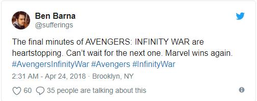 Vingadores: Guerra Infinita surpreende nas primeiras reações ao filme 13
