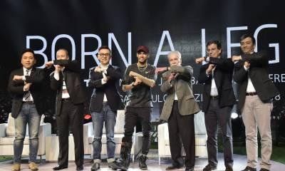Sean Zhang Ricard Freitas Kevin Wang Neymar Jr. Affonso Bransão Hennel Sergio Loeb e Yue Haiping 1 - TCL lança no Brasil sua nova TV QLED X6 e tem Neymar Jr. como garoto propaganda