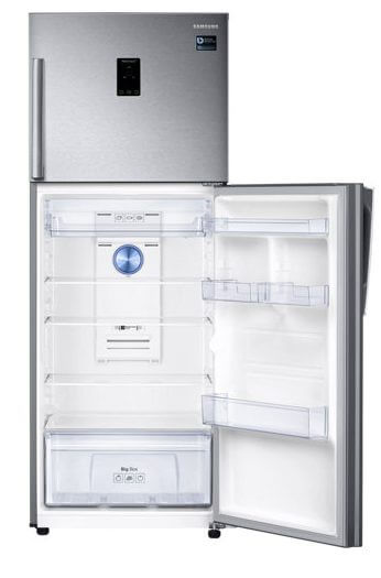 br top mount freezer rt38k5430sl az rt38k5430sl az 006 front bottom open silver e1524516143746 - Conheça os 5 modos de uso dos refrigeradores Twin Cooling da Samsung