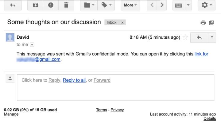 Vazam imagens do modo confidencial do novo Gmail 7