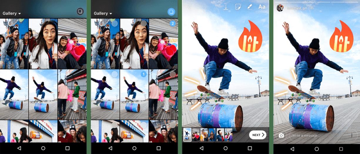 multiupload group - Instagram Stories: agora você pode publicar várias fotos e vídeos de forma simultânea
