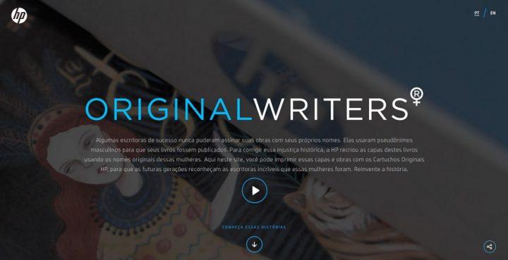 originalwriters 720x369 - HP lança projeto para retratar injustiça histórica contra escritoras e valorizá-las