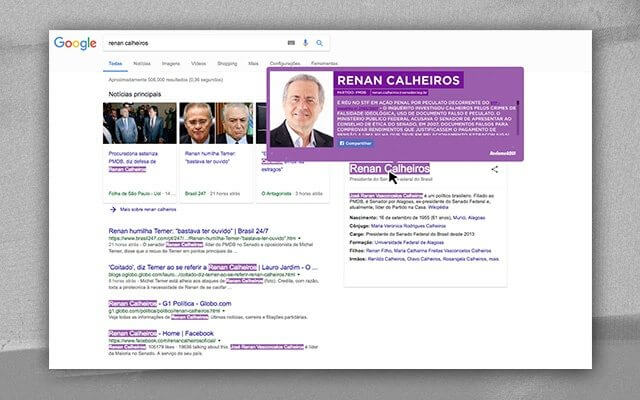 renan - Extensão do Chrome alerta sobre os políticos condenados por corrupção