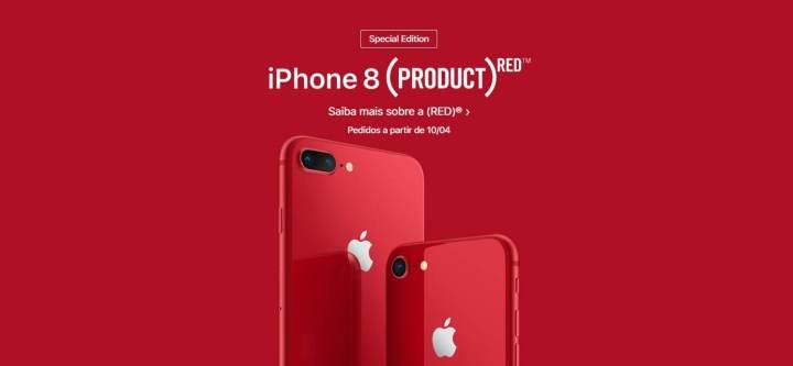 iPhone 8 e 8 Plus são lançados na cor vermelha 6