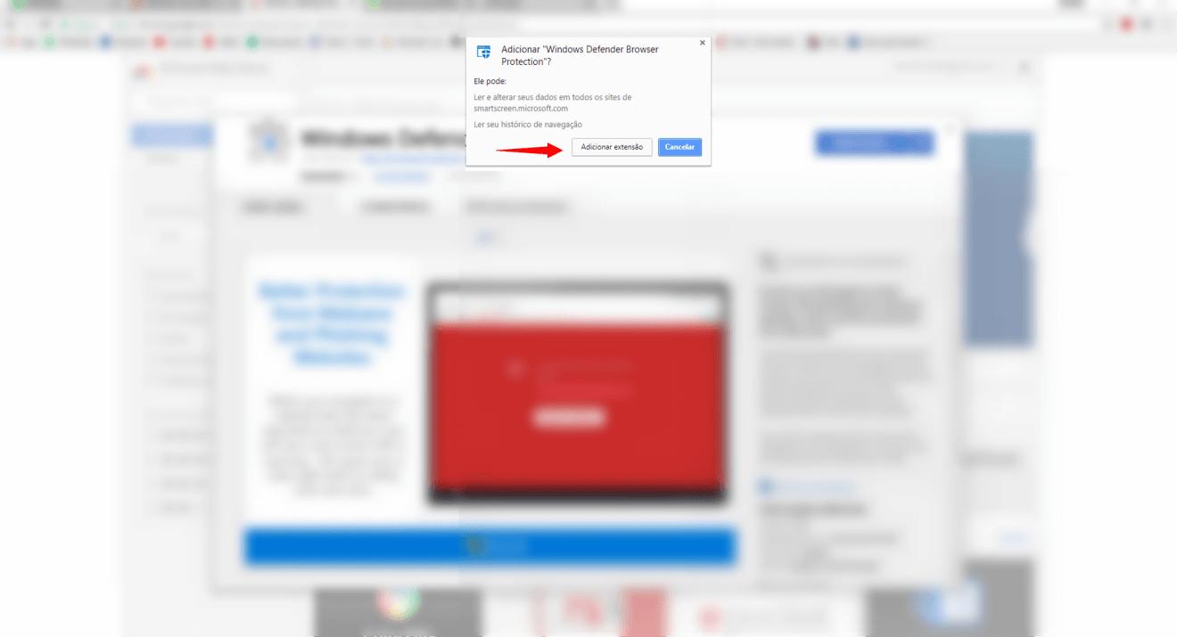 Tutorial: proteja-se de malwares com a extensão do Windows Defender para Google Chrome 7