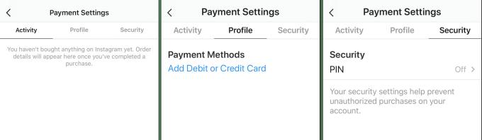instagram payments settings - Instagram deve permitir compras dentro do aplicativo em breve