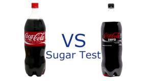 Test de azucar coca cola zero vs coca cola normal