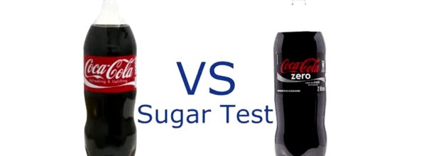 Test de azucar coca cola zero vs coca cola normal
