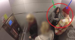 Experimento social en ascensor