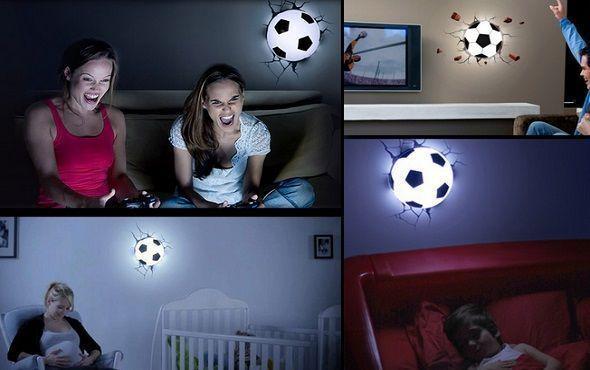 Lámpara 3D balón de fútbol
