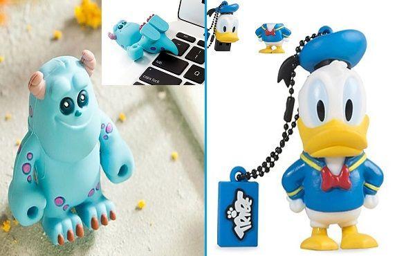 Memoria USB Pato Donald y Sully