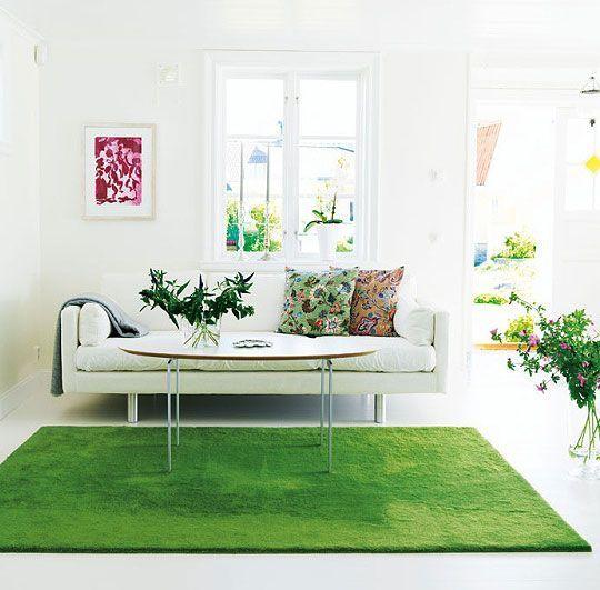 cesped artificial salon de casa