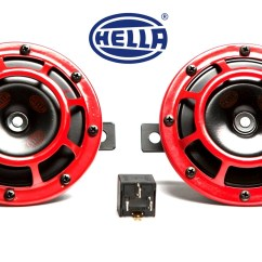 Hella Supertone Wiring Diagram Free Electrical Software Showoff Imports Horn Kit Red 118db Set