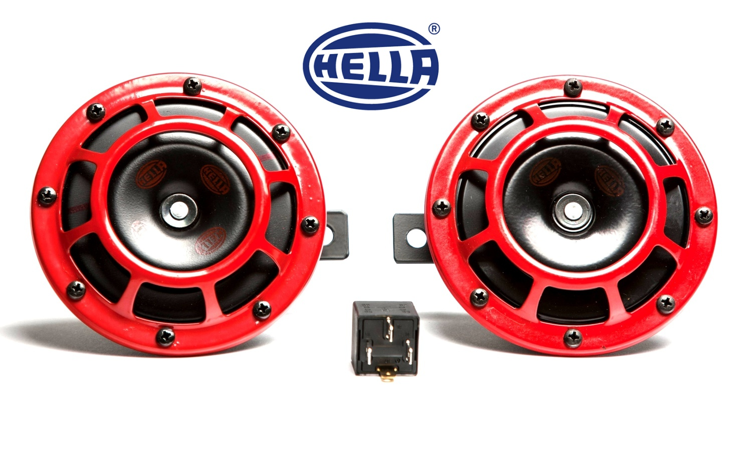 hella supertone wiring diagram for bft photocells showoff imports horn kit red 118db set