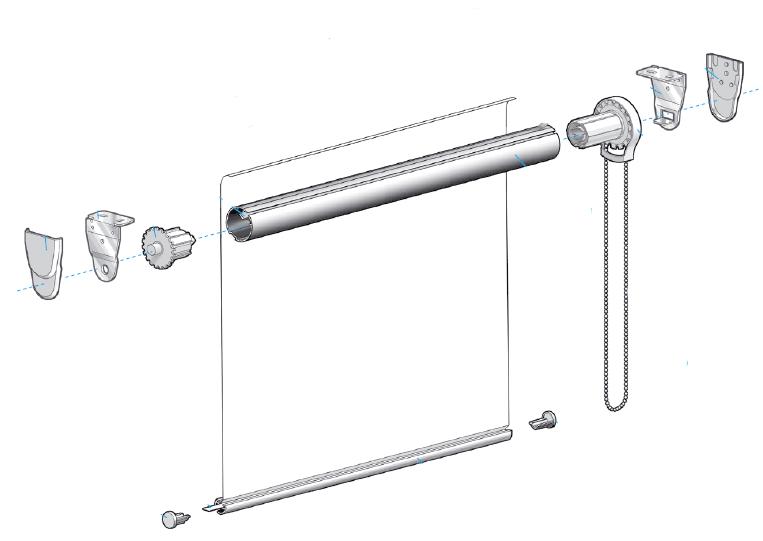 Le tende a rullo mhz su misura sono adatte anche a finestre di grandi. Tende A Rullo