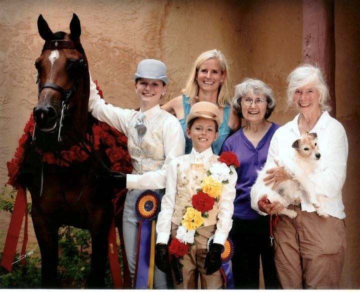 3 generations of the Harkins family at Youth Nationals with homebred national champion, Windabrae