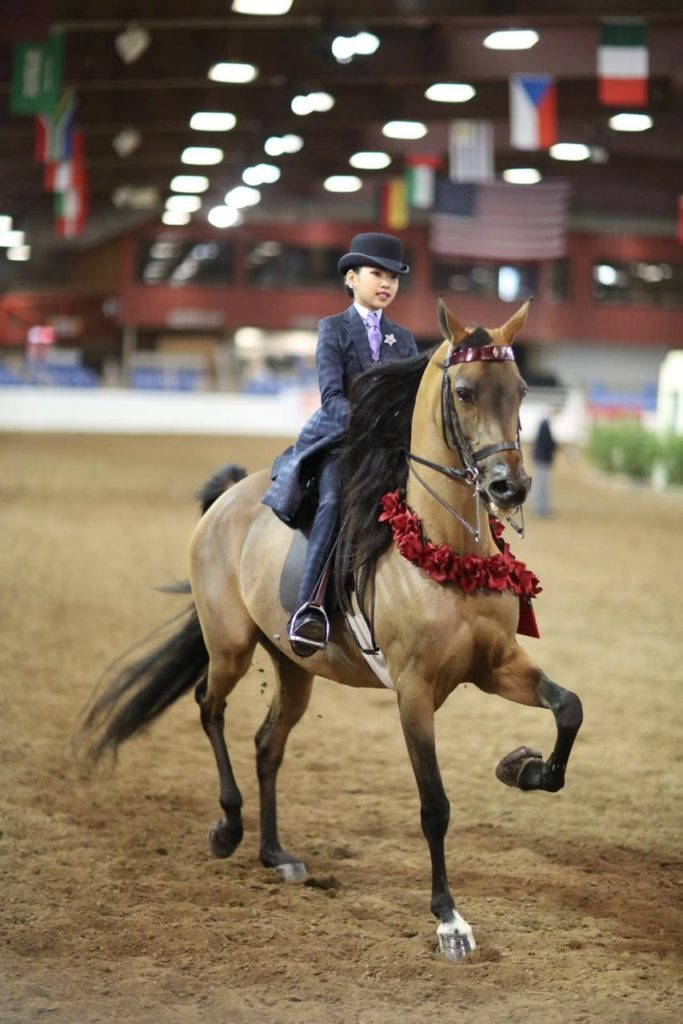 Sophie and Heiress TRGR winning the PB Country JTR 14 & under championship at Scottsdale