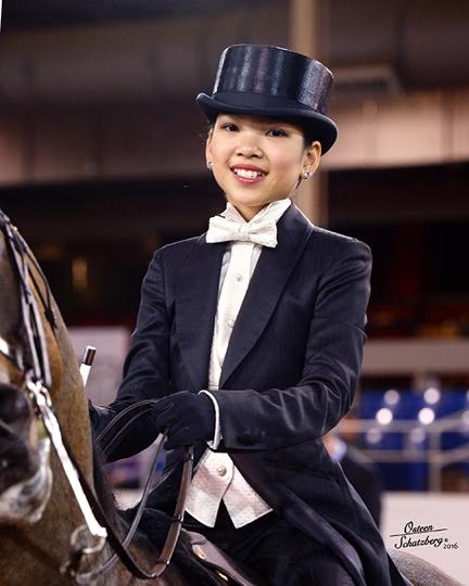 Sophie Yih looking adorable in her tux in Saddleseat Equitation in Scottsdale