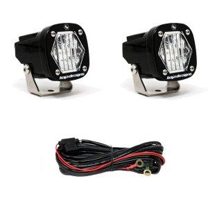 S1 Wide Cornering LED Light with Mounting Bracket Pair Baja Designs