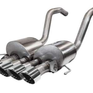 Corvette 2.75 Inch Axle-Back w Dual Mode NPP Dual Rear Exit with Quad 4.5 inch Polished Pro-Series Tips Corsa