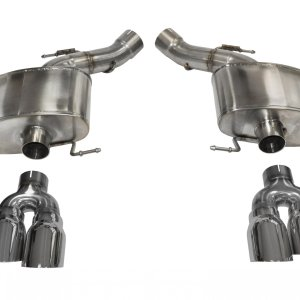 3.0 Inch Axle-Back Sport Dual Exhaust 4.0 Inch Polished Tips 12-18 BMW M5 F10 Stainless Steel Corsa Performance