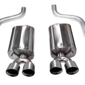 Corvette 2.5 Inch Axle-Back Dual Rear Exit with Twin 4.5 Inch Polished Pro-Series Tips Sport Sound 09-13 Corvette 6.2 Liter Corsa Performance