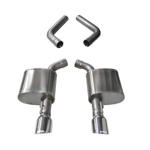 4.5 Inch Axle-Back Dual Rear Exit 15-18 Charger 6.4L with Polished Pro-Series Tips Corsa Performance