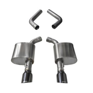 4.5 Inch Axle-Back Dual Rear Exit 15-18 Charger 6.4L with Black Pro-Series Tips Corsa Performance