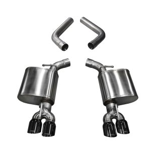 3.5 Inch Axle-Back Dual Side Exit 15-18 Challangerwith Black Pro-Series Tips Corsa Performance