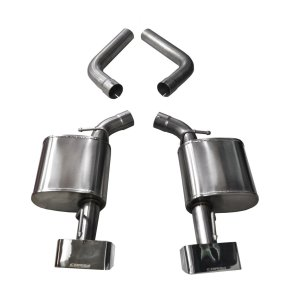3.5 Inch Axle-Back Dual Rear Exit 15-18 Challenger with GTX2 Polished Pro-Series Tips Corsa Performance