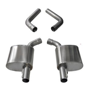 4.5 Inch Axle-Back Dual Rear Exit 17-18 Charger 5.7L with Dumps Corsa Performance