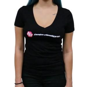 Baja Designs Black Ladies V Neck T Shirt Small Baja Designs
