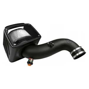 Cold Air Intake For 07-10 Chevrolet Silverado GMC Sierra V8-6.6L LMM Duramax Dry Extendable White S&B