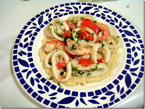 Seafood Humus