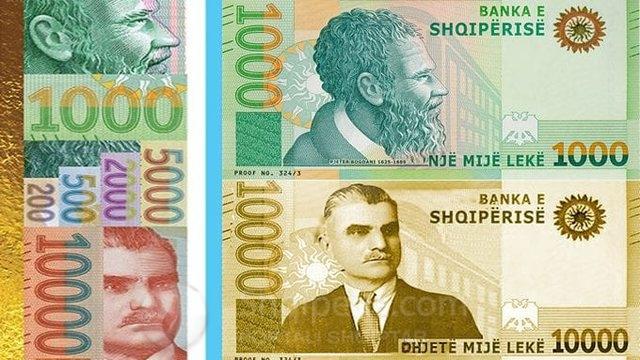 Banka e Shqipërisë nxjerr njoftimin: – Hidhen në treg kartmonedhat e reja, mes tyre ajo 10.000 lekëshe, në ngjyrë të artë me portretin e Asdrenit
