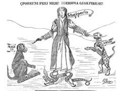 Zbulohet karikatura kunder copetimit te Shqiperise ne 1913