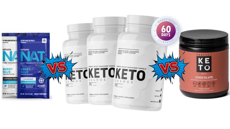 Pruvit Keto OS NAT vs Perfect Keto vs KetoCharge Comparison Guide by  Shred Fitness NY