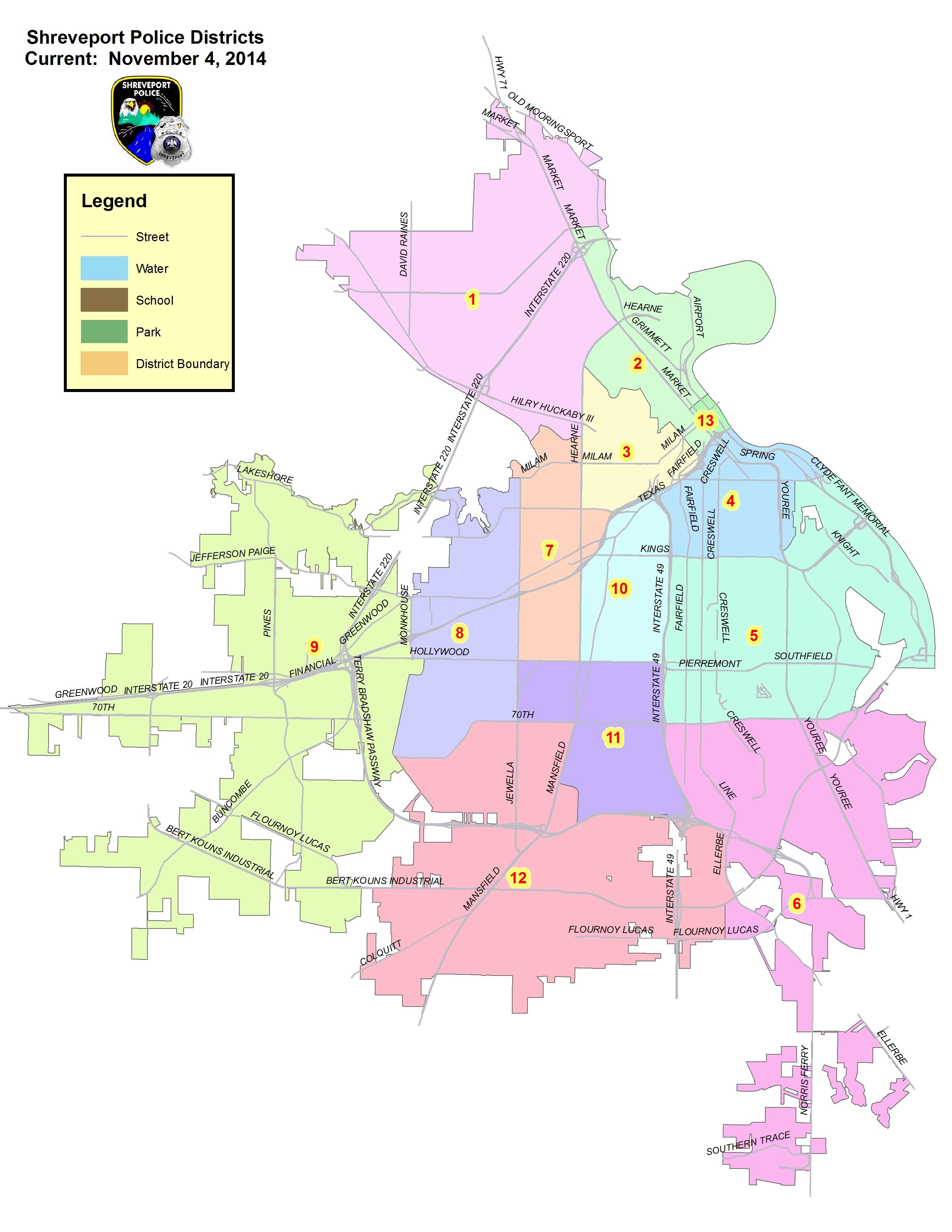 Shreveport La Zip Code Map