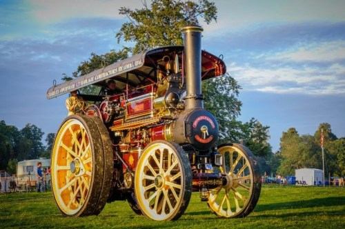 Fowler B6 Road Locomotive 'Foremost' taking an evening stroll around the Main Arena.