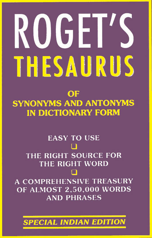 Thesaurus of Synonyms and Antonyms
