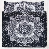 Black Silver Mandala Bedding Bohemian Bedding Bed Set