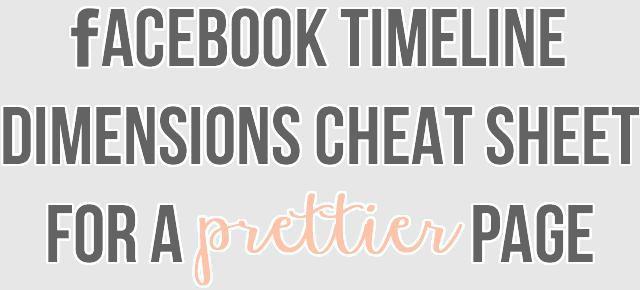 Facebook Dimensions Cheat Sheet