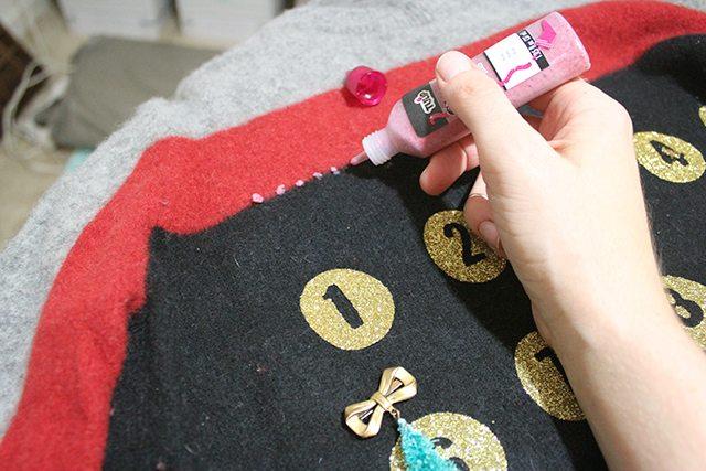 Advent Calendar Christmas Sweater Embellishment