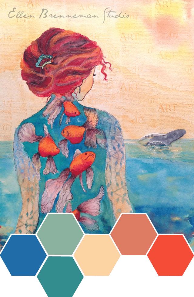 Ellen Brennemans Sea Queen Color Inspiration Shrimp