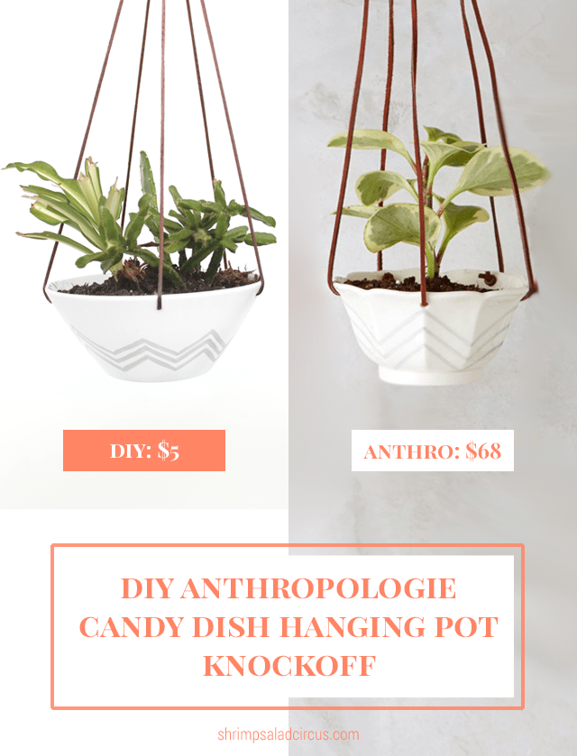 Anthropologie Candy Dish Hanging Pot Knockoff Comparison