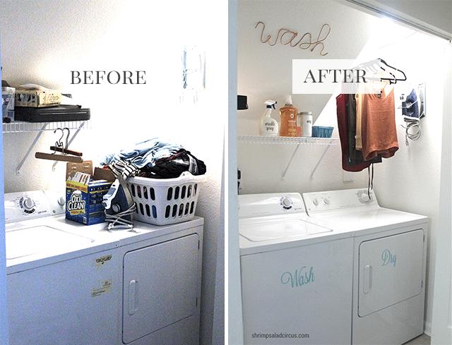 Budget Laundry Room Makeover Shrimp Salad Circus