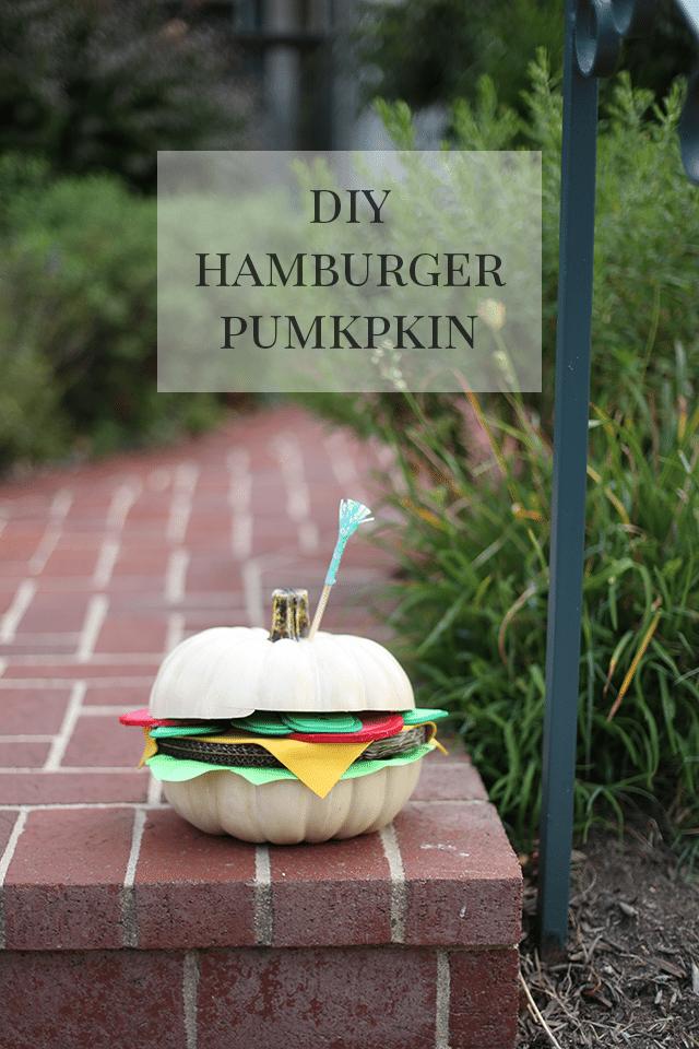 DIY Hamburger Pumpkin